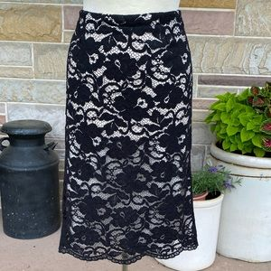 Cato Lace Overlay Skirt